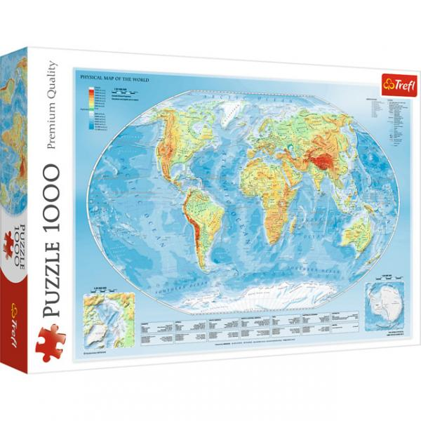 Puzzle da 1000 Pezzi - Physical Map of The World