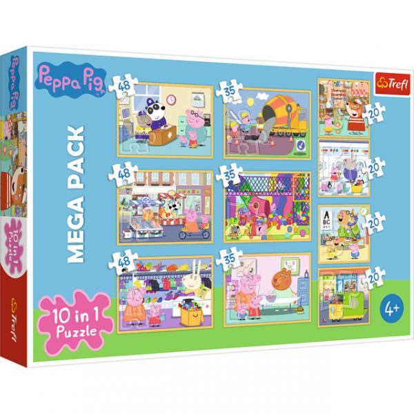Puzzle - 10 in 1 - Peppa Pig with friends / Peppa Pig