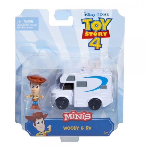 Toy Story 4 - Minis: Woody Con Veicolo