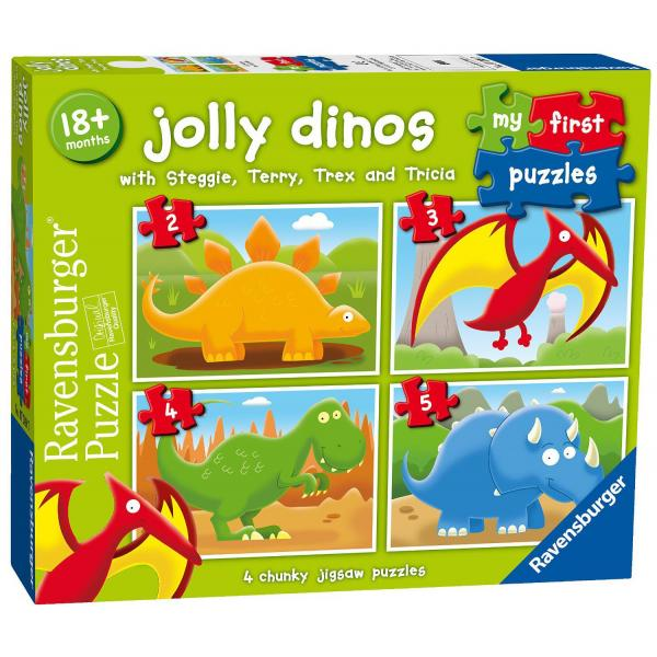My First Puzzles: Puzzle 4 in 1 - Dinosauri