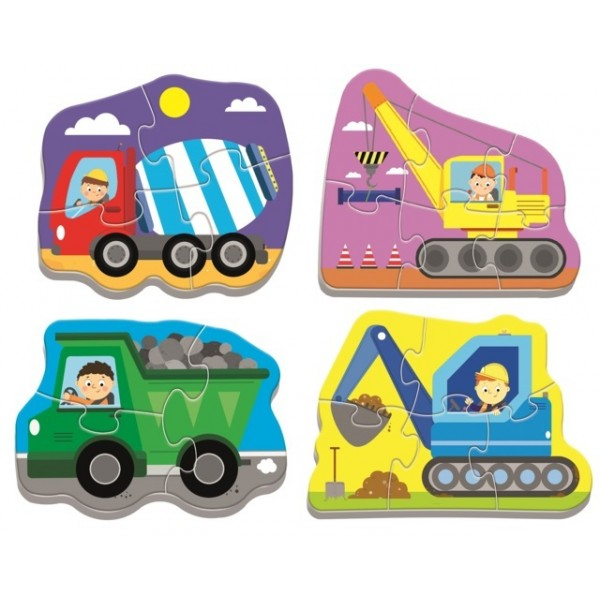 Puzzles - Baby classic - Wehicles on the costruction site